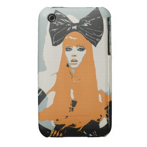 Big Bows & Orange Hair iPhone 3 Case-Mate Case