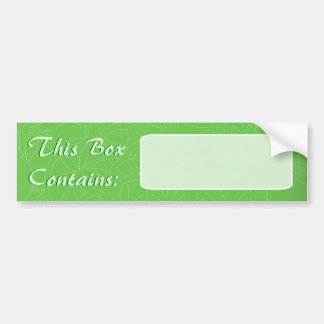 Big Box Label Bumper Sticker