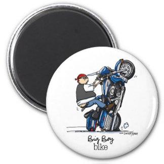 Big Boy Motorcycle 6 Cm Round Magnet