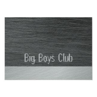 Big Boys Club invitation card