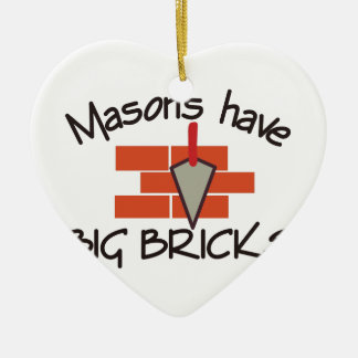 Big Bricks Ceramic Heart Decoration
