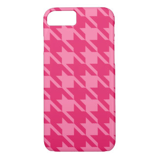 Big Bright Pink Houndstooth iPhone 7 case