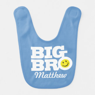 Big bro add your name Baby bib