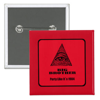 big brother 15 cm square badge