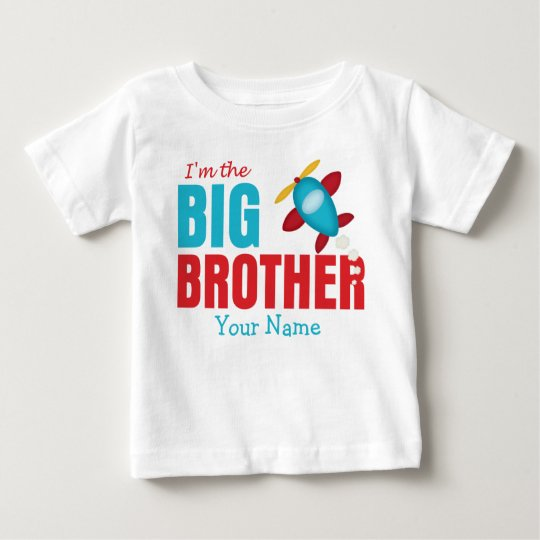 Big Brother Aeroplane Personalised Baby T-Shirt