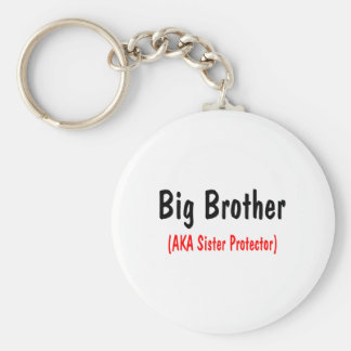 Big Brother (AKA Sister Protector) Basic Round Button Key Ring