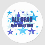 Big Brother All Star Round Stickers