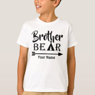 Big Brother Arrow Bear Personalized T-Shirt