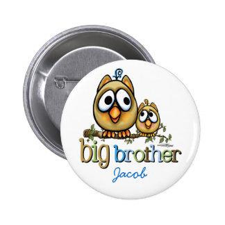 Big Brother - Baby Bro Owls 6 Cm Round Badge