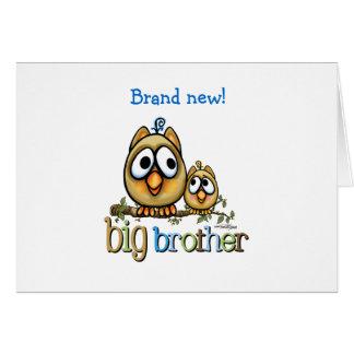 Big Brother - Baby Bro Owls Card