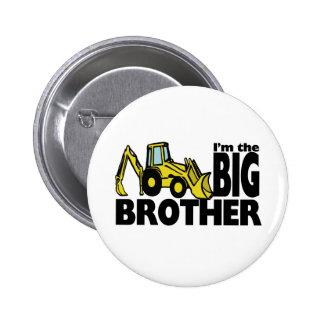Big Brother Backhoe 6 Cm Round Badge