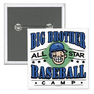 Big Brother Baseball Blue Helmet 15 Cm Square Badge