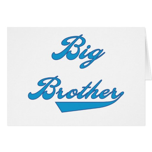 Big Brother Blue Text Tshirts and Gifts Card