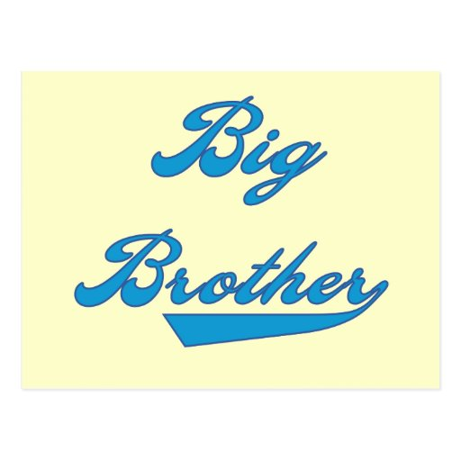 Big Brother Blue Text Tshirts and Gifts Postcard