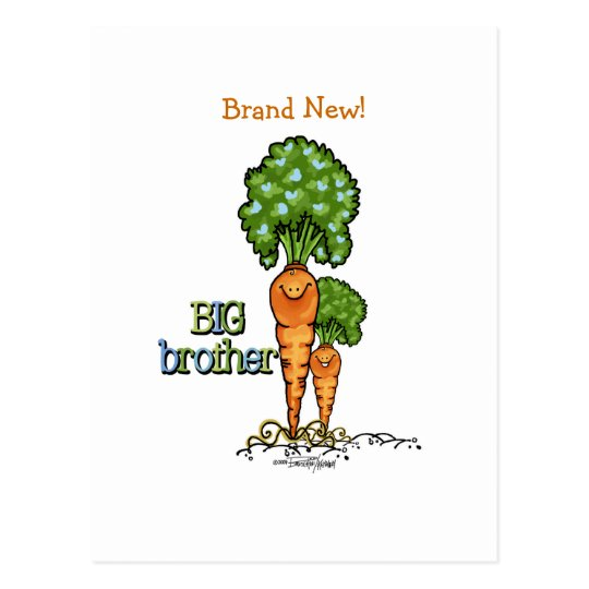 Big Brother - Carrot Postcard