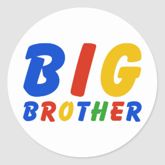 BIG BROTHER CLASSIC ROUND STICKER