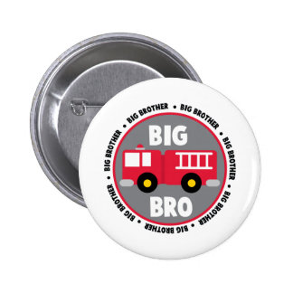 Big Brother Fire Truck 6 Cm Round Badge