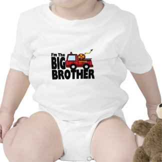 Big Brother Fire Truck Baby Bodysuit