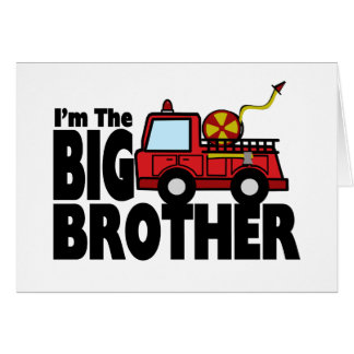 Big Brother Fire Truck Card