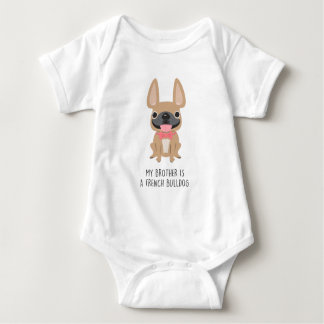 Big Brother Frenchie - Fawn by French Bulldog Love Baby Bodysuit
