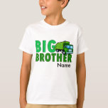 Big Brother Garbage truck with personalised name T-shirts