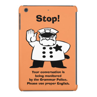 Big Brother Grammar Police iPad Mini Cases