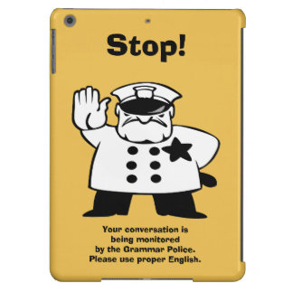 Big Brother Grammar Police iPad Air Case