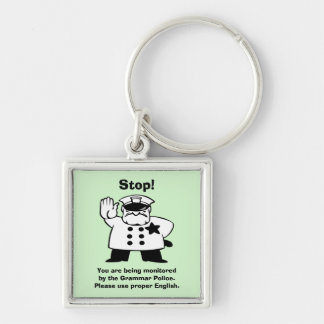 Big Brother Grammar Police Key Chain