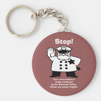 Big Brother Grammar Police Key Ring