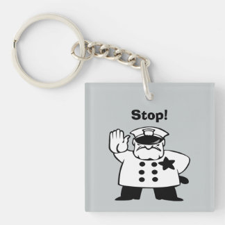 Big Brother Grammar Police Square Acrylic Key Chain