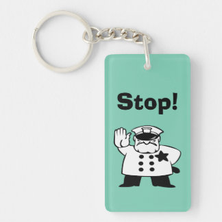 Big Brother Grammar Police Double-Sided Rectangular Acrylic Keychain