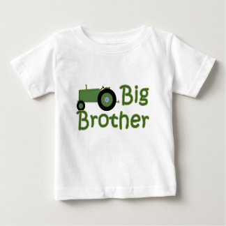Big Brother Green Tractor Baby T-Shirt