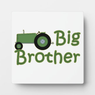 Big Brother Green Tractor Plaque