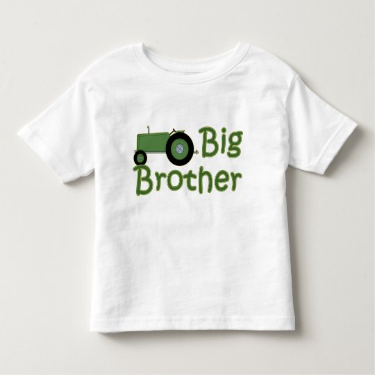 Big Brother Green Tractor Toddler T-Shirt
