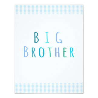 Big Brother in blue 11 Cm X 14 Cm Invitation Card