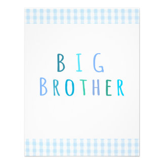 Big Brother in blue Personalized Invitations