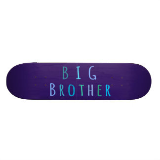 Big Brother in blue Skateboard Deck