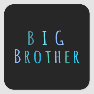 Big Brother in blue Square Sticker