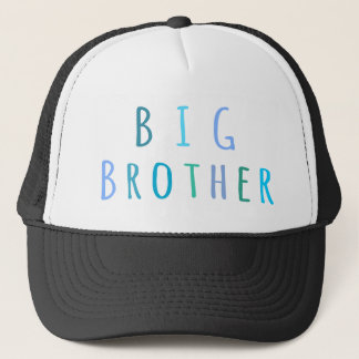 Big Brother in blue Trucker Hat