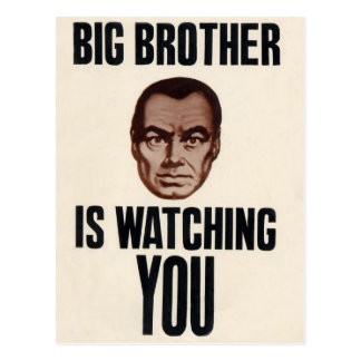 Big Brother is watching you Postcard