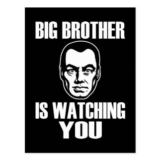 Big Brother is Watching You Post Card