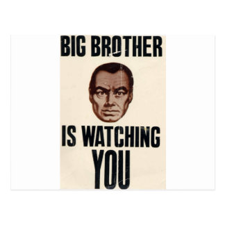 Big Brother Is Watching You Post Cards