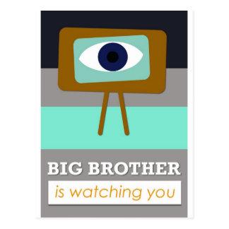Big Brother is watching you scandinavian art desi Wenskaart