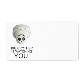 Big brother is watching you shipping label