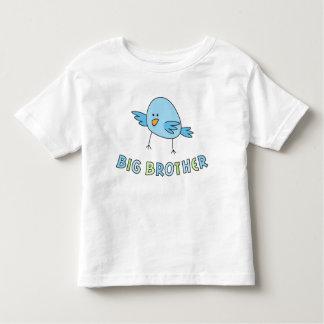 Big brother kids shirt, funny cute cartoon bird toddler T-Shirt