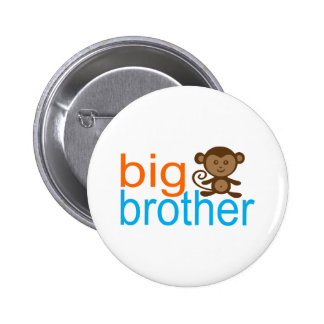 Big Brother Monkey 6 Cm Round Badge
