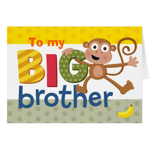 BIG brother monkey Card