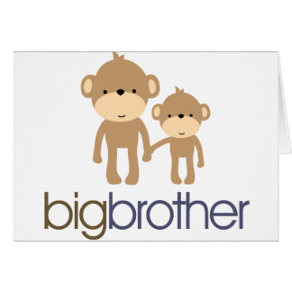 Big Brother Monkey T-shirt Greeting Card