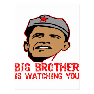 Big Brother Obama Is Watching You Post Cards
