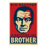 Big Brother: Obama parody poster